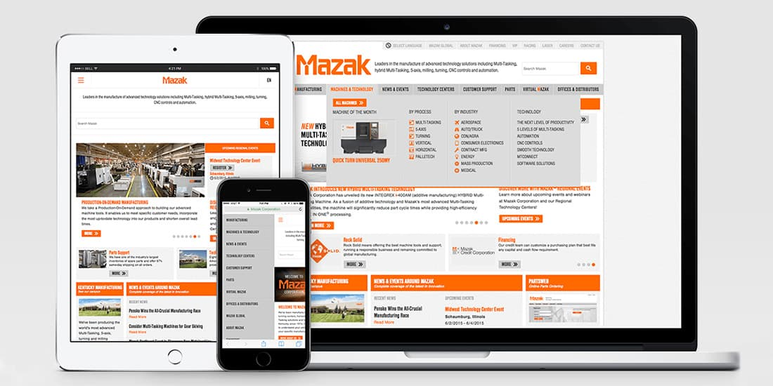 Mazak Corporation – North American Website | dgs Marketing